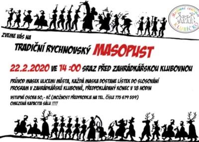 Tradiční Masopust pro děti pořádají v Rychnově