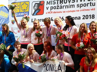Mistryněmi republiky v požárním sportu 2018 jsou ženy SDH Poniklá