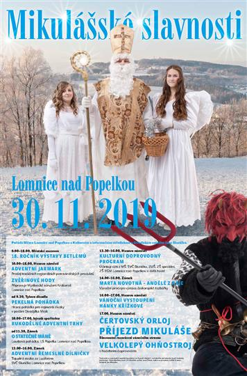 Mikulášské slavnosti v Lomnici opět doplní pohádky, výstavy a ohňostroj