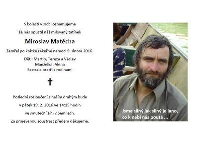 Zemřel Miroslav Matěcha, chartista, podnikatel i vynálezce hlavolamu