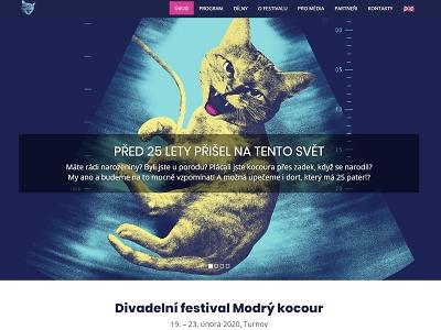 Divadelní festival Modrý kocour letos slaví čtvrtstoletí od vzniku