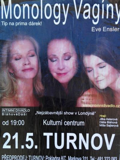 Dáša Bláhová přiveze do Turnova Monology vagíny