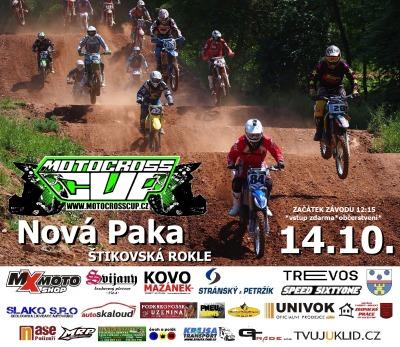 Závod v Nové Pace zakončí letošní seriál Motocross cup