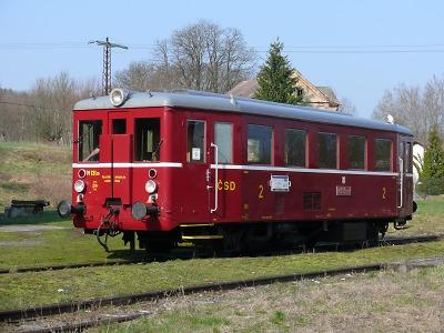 Po muzejní železnici vozí cestující Hurvínek i Orchestrion