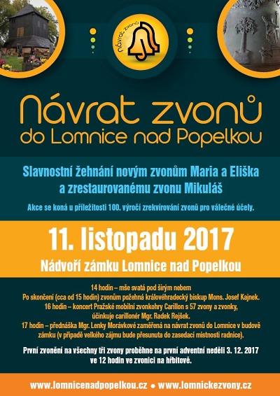 Návrat zvonů do Lomnice pokračuje biskupským požehnáním