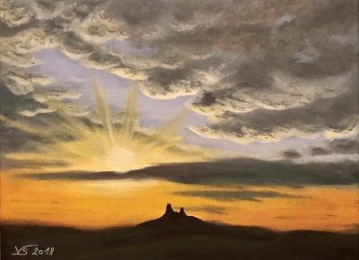 Výstavu obrazů Věry Stolínové Nebe na zemi otevřou v Galerii Granát