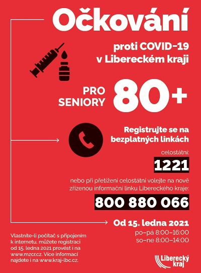 Očkování v sociálních zařízeních v Libereckém kraji se již blíží ke konci