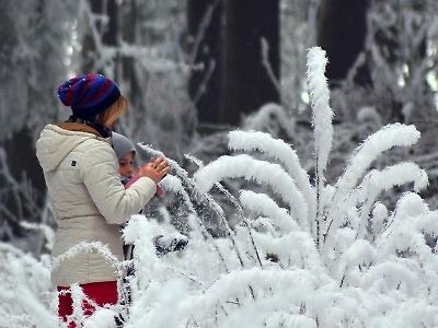 Fotovzpomínka na lednovou mrazivou inverzi nad Maršovicemi