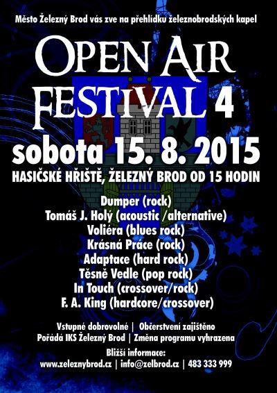 Čtvrtý díl Open Air Festival Brod opět představí místní kapely