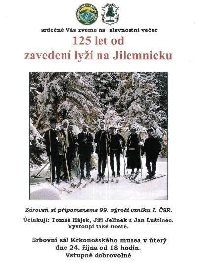 V Jilemnici oslaví 125 let od zavedení lyžování