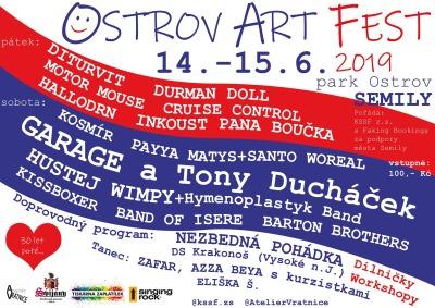 Semilský park o víkendu ovládne Ostrov Art Fest