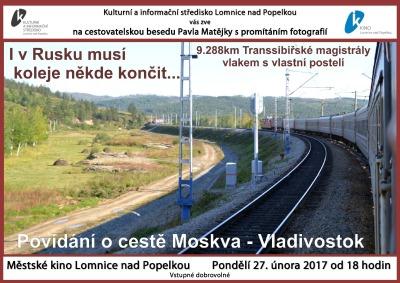 Pavel Matějka bude v Lomnici vyprávět o cestě do Vladivostoku