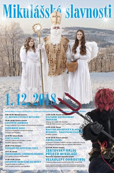 Mikulášské slavnosti v Lomnici doplní opět pohádky, trhy a ohňostroj