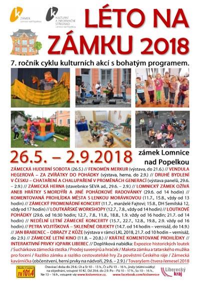 Zámecké léto v Lomnici bude probíhat už posedmé