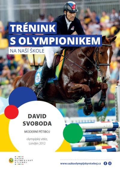 Olympijský vítěz David Svoboda si zatrénuje s dětmi v Benešově u Semil
