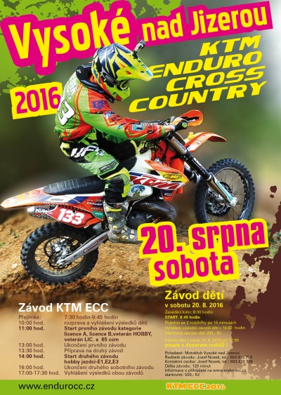 Motoseriál KTM ECC pokračuje ve Vysokém