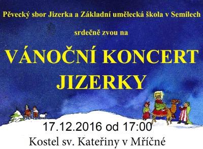 Jizerka zapěje v kostele sv. Kateřiny v Mříčné