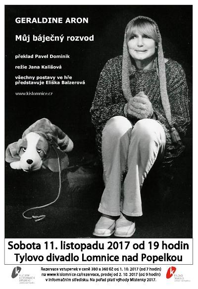 Eliška Balzerová ztvární v Lomnici 15 postav ve hře Můj báječný rozvod