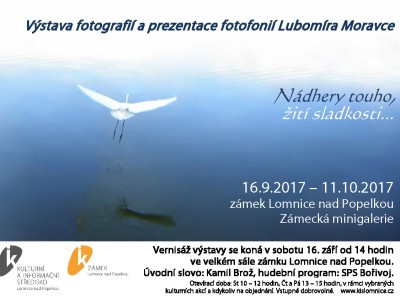 Na lomnickém zámku představí fotografie Lubomíra Moravce