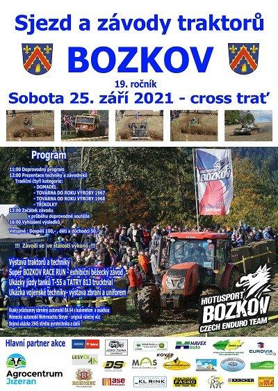 Po dvouleté pauze se opět sjedou traktory do Bozkova