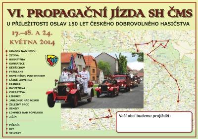 VI. spanilá jízda dobrovolných hasičů projede celým Libereckým krajem