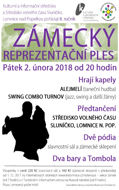 Reprezentační zámecký ples pořádají v Lomnici už poosmé