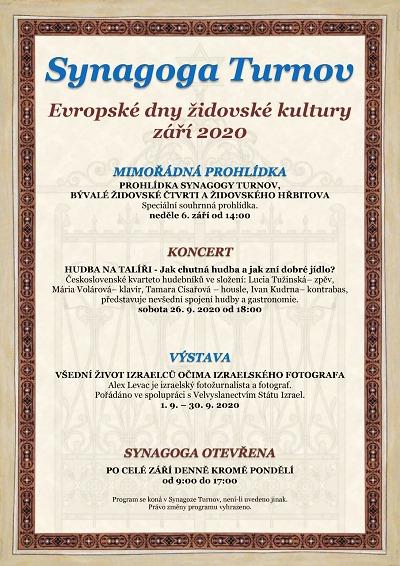 Evropské dny židovské kultury se budou konat i v Turnově