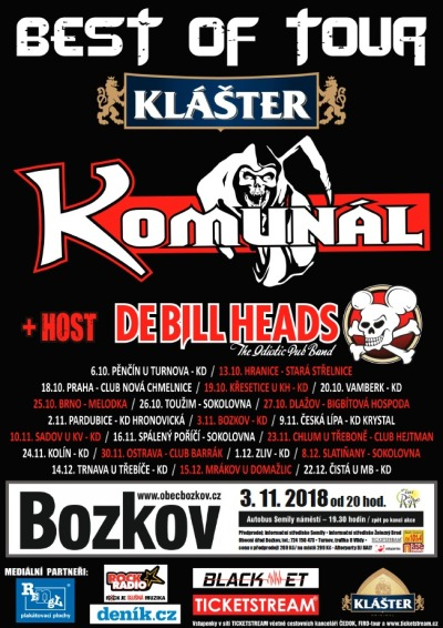 V Bozkově zahrají Komunál a DeBill Heads