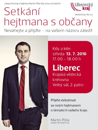 Občané Liberce se mohou zeptat na názor svého hejtmana