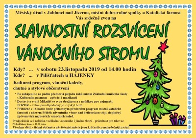 V Jablonci nad Jizerou rozsvítí vánoční strom už 23. listopadu