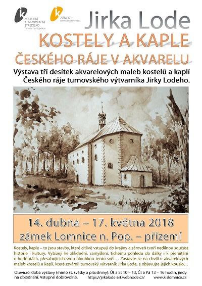 Akvarely českorajských kostelů a kaplí jsou na lomnickém zámku