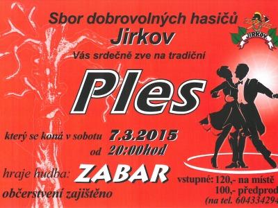 Hasiči z Jirkova zvou na místní ples