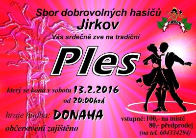 Jirkovští hasiči zvou na svůj ples