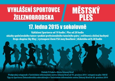 Na Brodském plese vyhlásí nejlepší sportovce