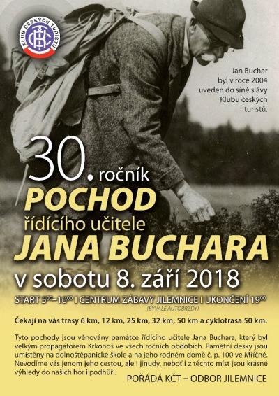 KČT Jilemnice chystá 30. ročník Pochodu řídícího učitele Jana Buchara