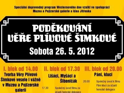 Na Poděkování Věře Plívové-Šimkové přijede kromě Krause i Bohdalová
