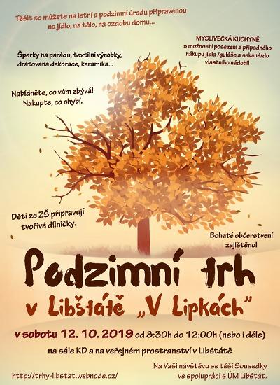 Podzimní trh V Lipkách opět nabídne domácí výpěstky a výrobky
