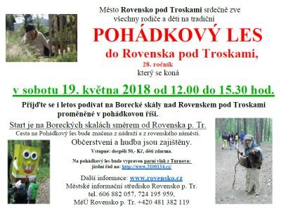 V Rovensku pořádají už 28. ročník pohádkového lesa