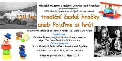 110 let tradiční české hračky aneb Pojďme si hrát