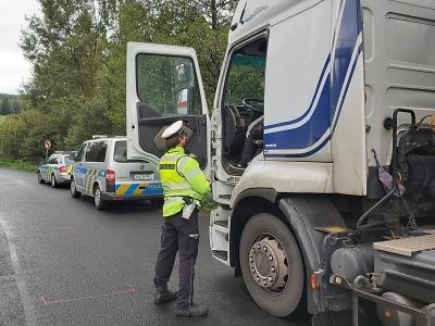 Policisté v Libereckém kraji kontrolovali autobusy a nákladní dopravu