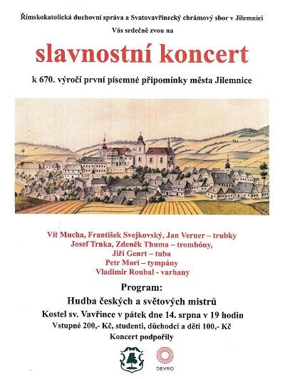 Koncert v kostele sv. Vavřince připomene 670. výročí města Jilemnice