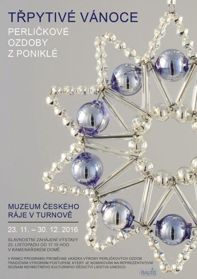 Třpytivé Vánoce s perličkovými ozdobami z Poniklé