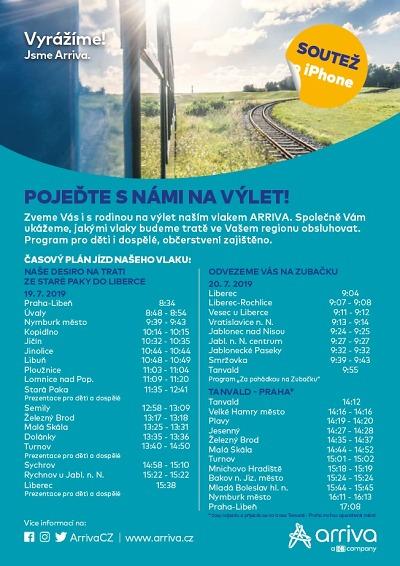Vlaky Arriva se v pátek a sobotu představí v Libereckém kraji