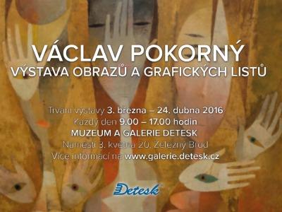 Obrazy a grafické listy Václava Pokorného v Železném Brodě