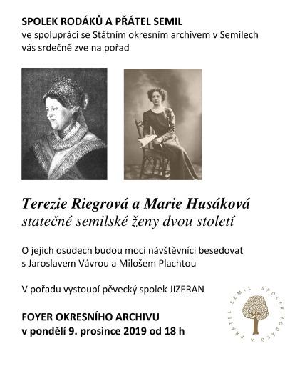 Prozradí více o statečných ženách Terezii Riegrové a Marii Husákové
