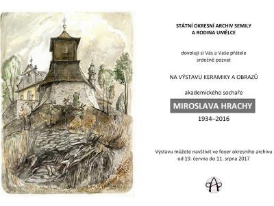 V semilském archivu vystavují keramiku a obrazy Miroslava Hrachy
