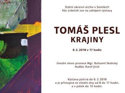 V semilském archivu zahájí výstavu obrazů Tomáše Plesla