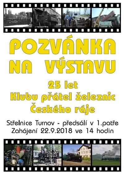Výročí Klubu přátel železnic Českého ráje připomene výstava