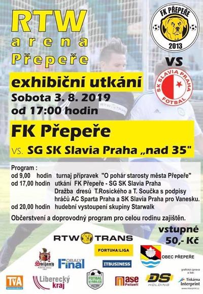Přepeře v přípravě vyzvou Slovan Liberec a starou gardu Slavie
