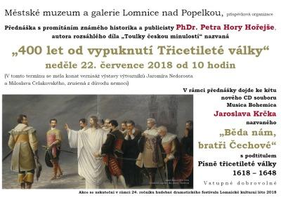 V lomnickém muzeu bude přednášet historik Petr Hora Hořejš